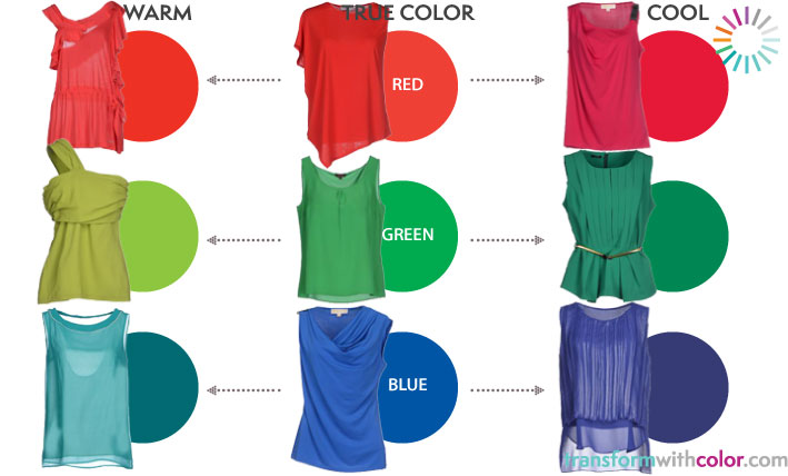 what to wear warm and cool colors